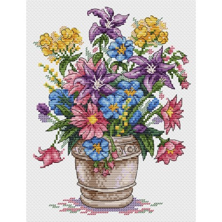 click here to view larger image of Bouquet of Inspiration (counted cross stitch kit)