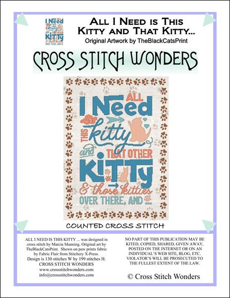 click here to view larger image of All I Need Is That Kitty and That Other Kitty (chart)