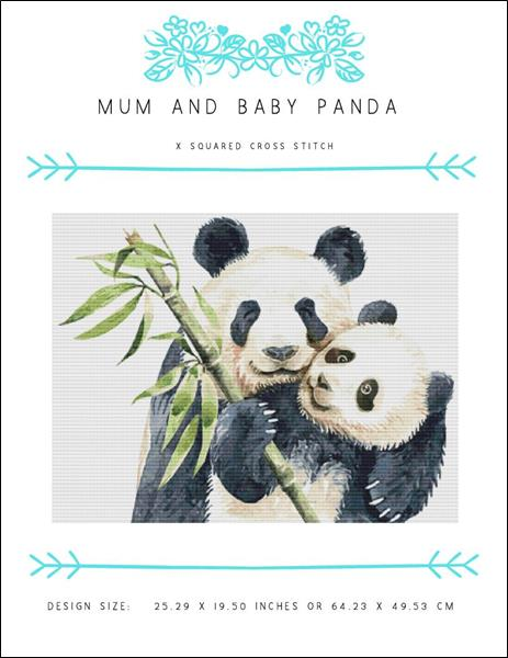 click here to view larger image of Mum And Baby Panda (chart)