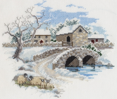 click here to view larger image of Countryside - Winterbourne Farm (counted cross stitch kit)