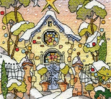 click here to view larger image of Mini Festive Welsh Chapel (counted cross stitch kit)