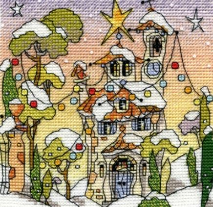 click here to view larger image of Mini Festive Italian Chapel (counted cross stitch kit)
