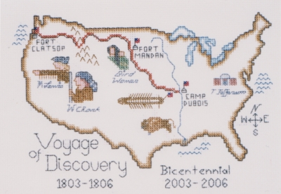 click here to view larger image of Voyage of Discovery Bicentennial (counted cross stitch kit)