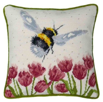 click here to view larger image of Flight Of The Bumble Bee -Tapestry Cushion (needlepoint kit)