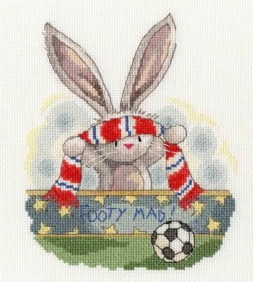 click here to view larger image of Footy Mad (counted cross stitch kit)