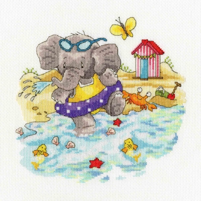 click here to view larger image of Big Splash Elly Collection - Simon Taylor Kielty (counted cross stitch kit)