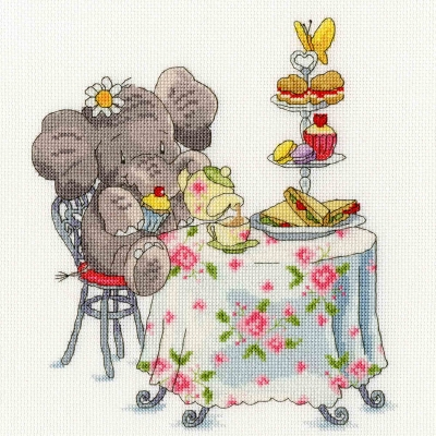 click here to view larger image of Elly One For Tea? - Elly Collection (counted cross stitch kit)