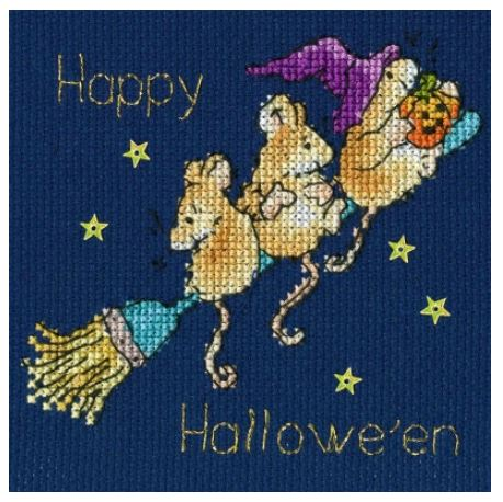 click here to view larger image of Stary Night - Card (counted cross stitch kit)