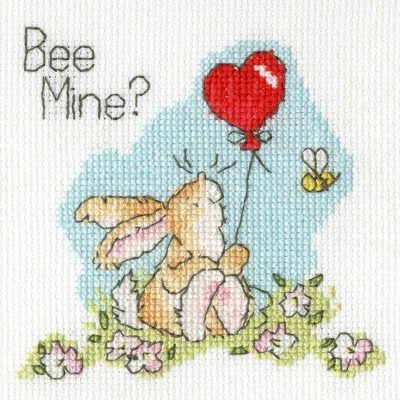 click here to view larger image of Be Mine? - Card (counted cross stitch kit)
