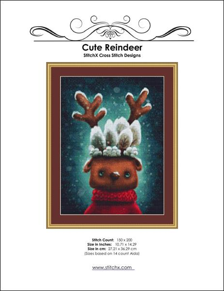 click here to view larger image of Cute Reindeer (chart)