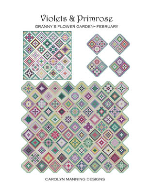 click here to view larger image of Violets and Primrose - Grannys Garden February (chart)
