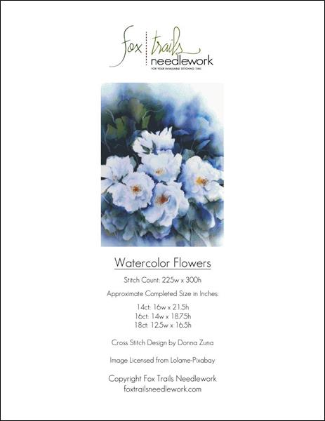 click here to view larger image of Watercolor Flowers (chart)