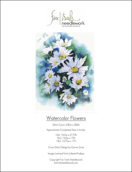 click here to view larger image of Watercolor Daisies (chart)