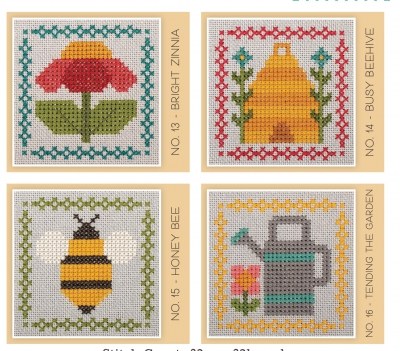 click here to view larger image of Stitch Cards - Set D (4 designs) (chart)