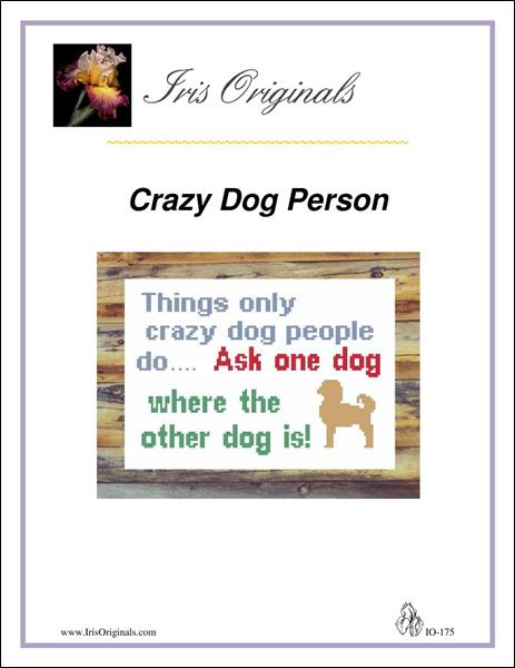 click here to view larger image of Crazy Dog Person (chart)