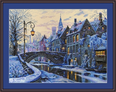 click here to view larger image of Winter Evening (counted cross stitch kit)