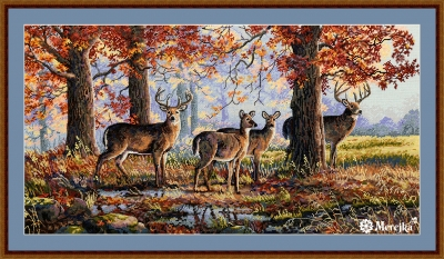 click here to view larger image of Under the Oaks (counted cross stitch kit)