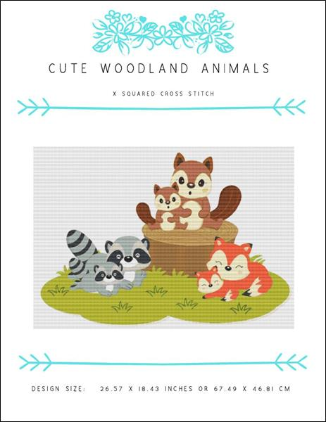 click here to view larger image of Cute Woodland Animals (chart)