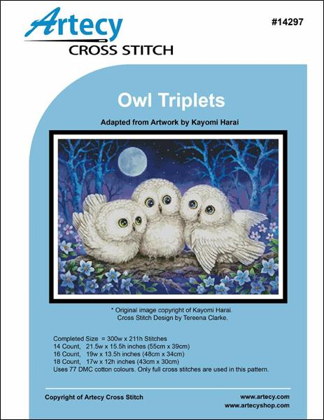 click here to view larger image of Owl Triplets (chart)