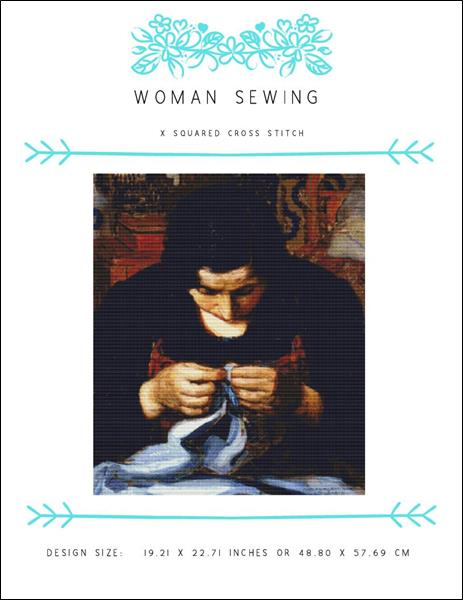 click here to view larger image of Woman Sewing (chart)