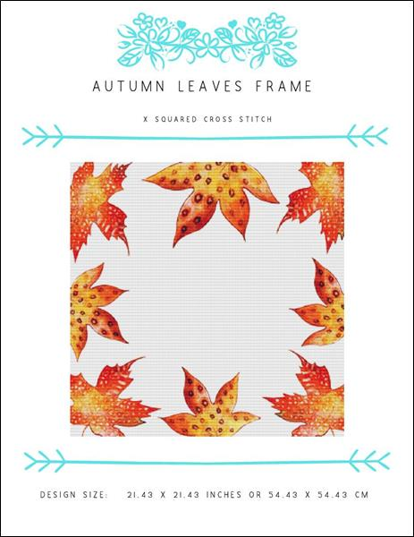 click here to view larger image of Autumn Leaves Frame (chart)