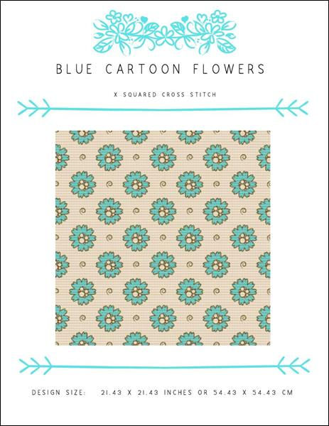 click here to view larger image of Blue Cartoon Flowers (chart)