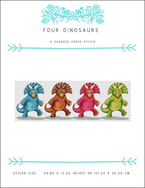 click here to view larger image of Four Dinosaurs (chart)