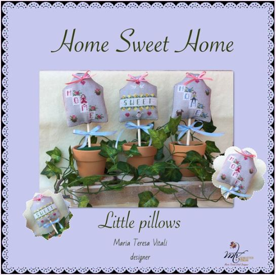 click here to view larger image of Home Sweet Home Little Pillows (chart)