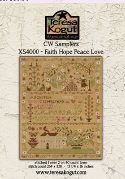 click here to view larger image of Faith Hope Peace Love (chart)