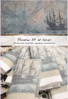 click here to view larger image of Pirates - 30ct Linen 15x19 (fabric)