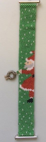 click here to view larger image of Santas Wreath Bracelet (bead kit)