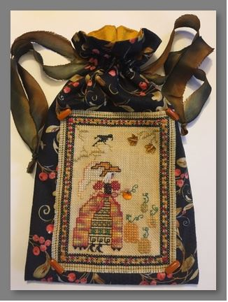 click here to view larger image of Autumn Angel Bag (counted cross stitch kit)