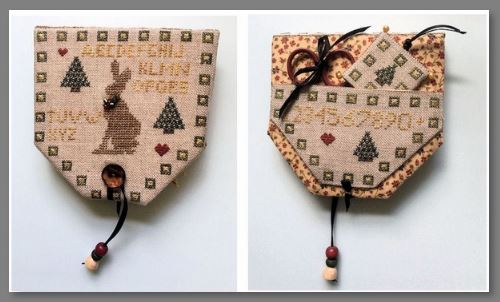 click here to view larger image of Christmas Hare Needle Case (bead kit)
