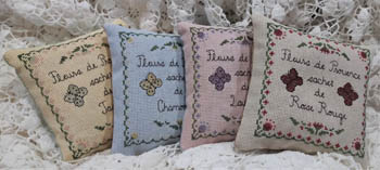 click here to view larger image of Flowers of Provence Sachet Set (chart)