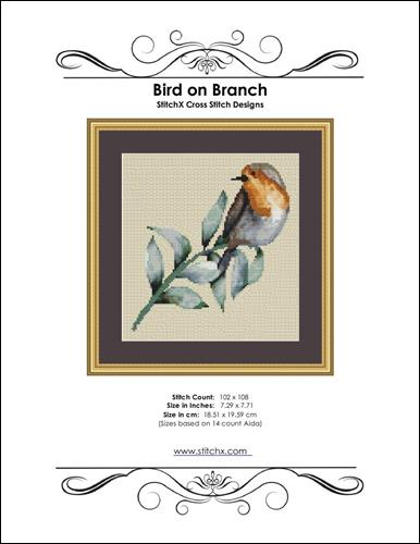 click here to view larger image of Bird on Branch  (chart)