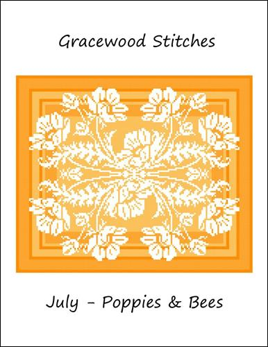 click here to view larger image of July - Poppies and Bees (chart)