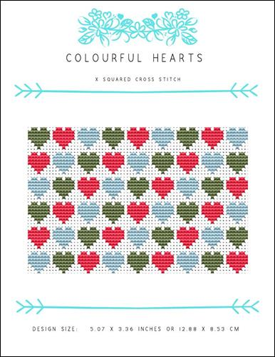 click here to view larger image of Colourful Hearts (chart)