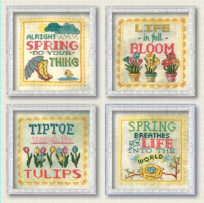 click here to view larger image of Spring Signs - 4 designs (chart)