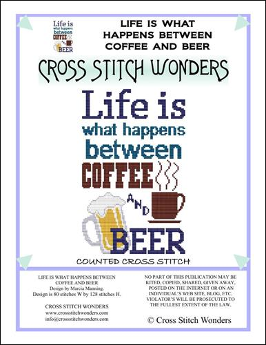 click here to view larger image of Life is what Happens Between Coffee and Beer  (chart)
