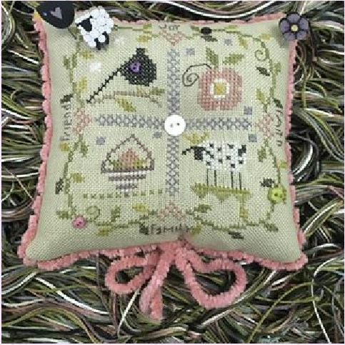 click here to view larger image of Little Blessings Pincushion (counted cross stitch kit)