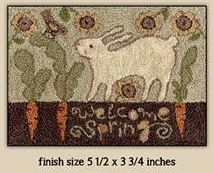 click here to view larger image of Carrot Row (Punchneedle) (Punchneedle)