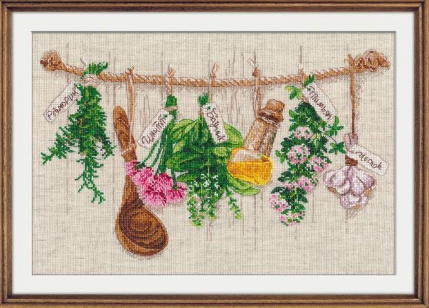 click here to view larger image of Fragrant Herbs (counted cross stitch kit)