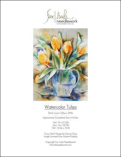 click here to view larger image of Watercolor Tulips (chart)
