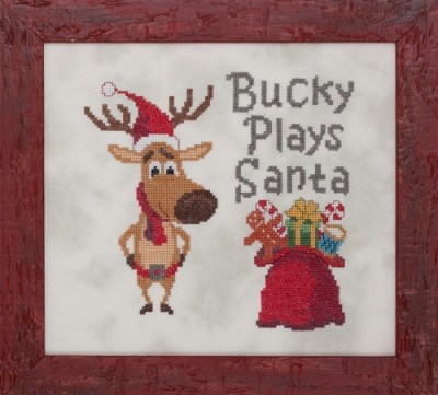 click here to view larger image of Bucky Plays Santa (chart)