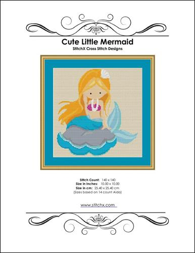click here to view larger image of Cute Little Mermaid (chart)