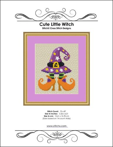 click here to view larger image of Cute Little Witch  (chart)