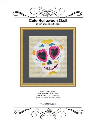 click here to view larger image of Cute Halloween Skull (chart)