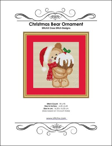 click here to view larger image of Christmas Bear Ornament (chart)