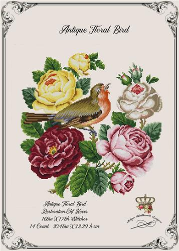 click here to view larger image of Antique Floral Bird (chart)