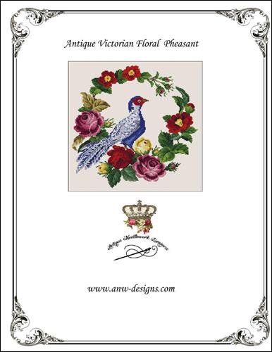 click here to view larger image of Antique Victorian Floral Pheasant (chart)